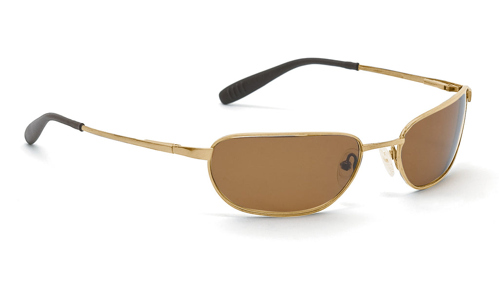 Sport Titanium Flex Sunglasses (single bridge) with Gold Frames