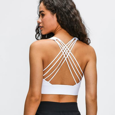 Sport Bra Strappy Back - Blanco