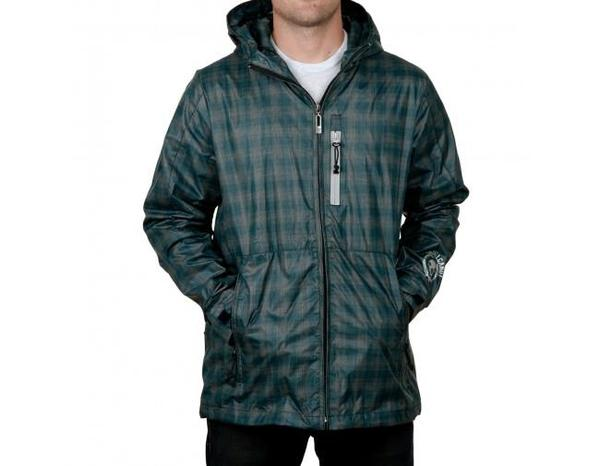 SKULLCANDY GUY'S BLACKOUT JACKET GREEN WINDBREAKER