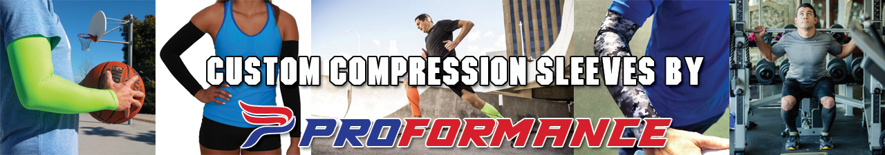 Custom compression sleeves by Proformance