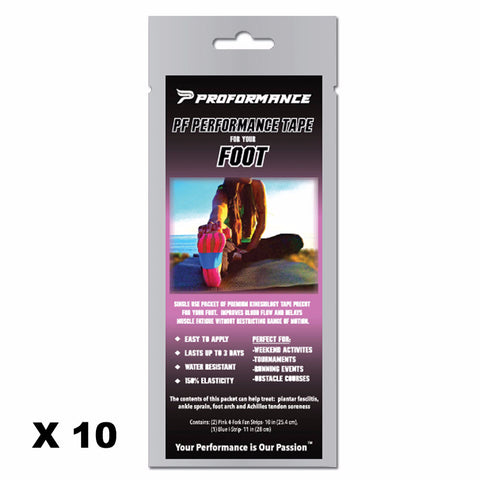 Precut PF Performance Tape - Foot CASE (10 Packets) - The Proformance Group, Inc.