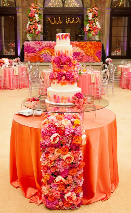 Wedding Cake Table Runner & Flower Wall 'Take the Cake!'