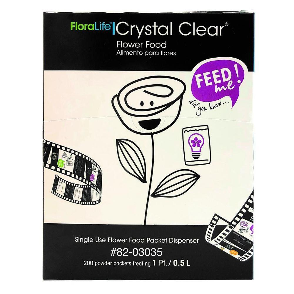 Floralife CRYSTAL CLEAR® Flower Food 300 Packets - Oasis Floral Products NA