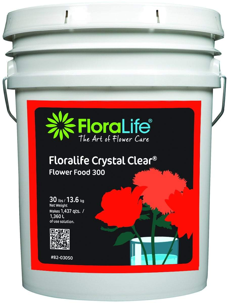 Floralife CRYSTAL CLEAR® Flower Food 300 Powders - Oasis Floral Products NA