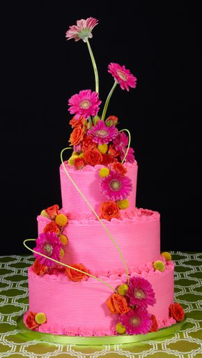 Floral decorations wedding cakes