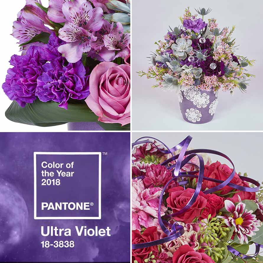 Pantone 2018 Color Ultra Violet Floral Design Ideas | OASIS Floral Products