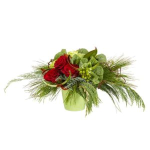 Good Tidings Holiday Floral Arrangement Centerpiece