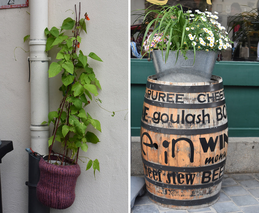 drainpipe and wine barrel | OASIS Floral Products