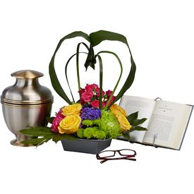 booklover sympathy floral arrangement OASIS Floral Products