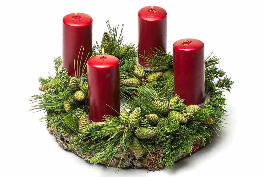 Floral Advent wreath | OASIS Floral Products