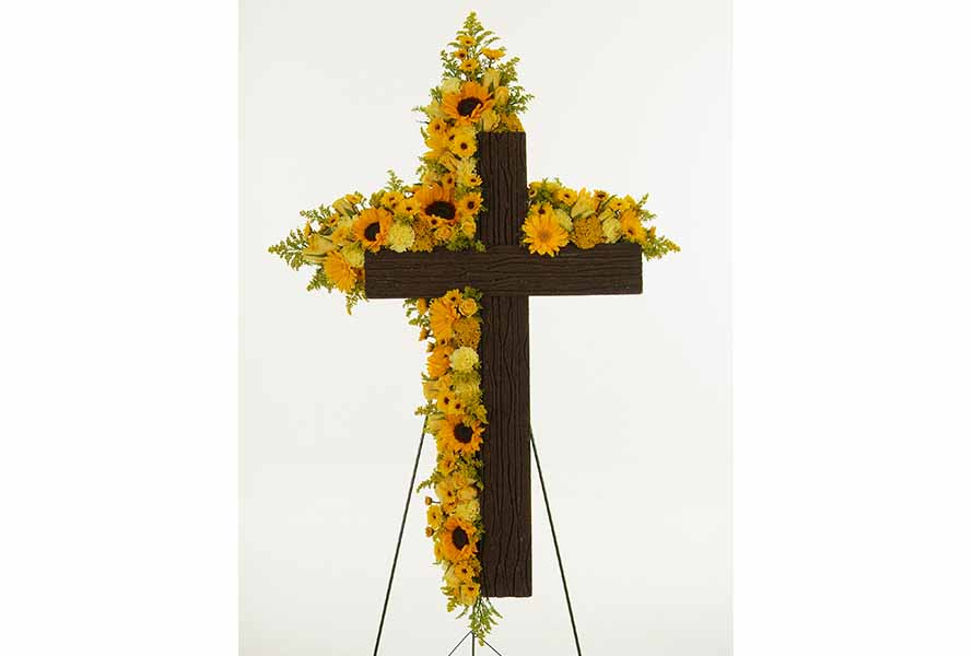 Sympathy floral cross Randy Wooten | OASIS Floral Products