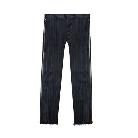 Zipper Side Pinstripe Trousers