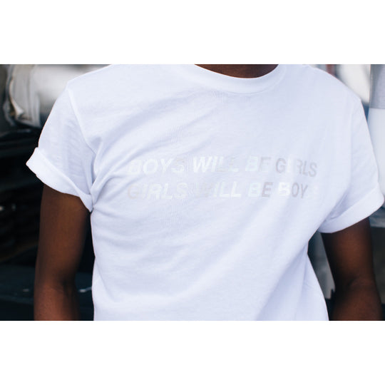 Milk.xyz Holographic Boys will be Girls, Girls will be Boys Tee