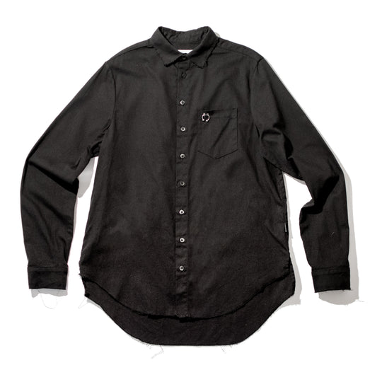 Black Signature Pierced Buttondown Shirt