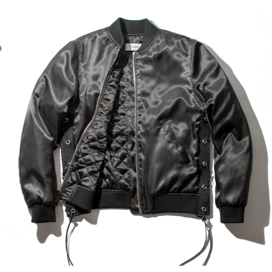 Shiny Satin Bomber Jacket