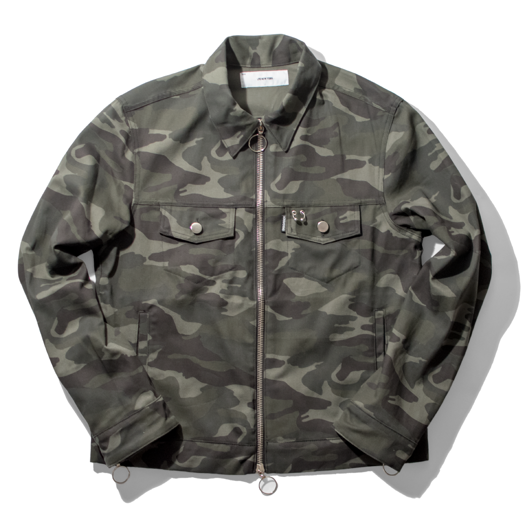 Camo Denim Trucker Jacket