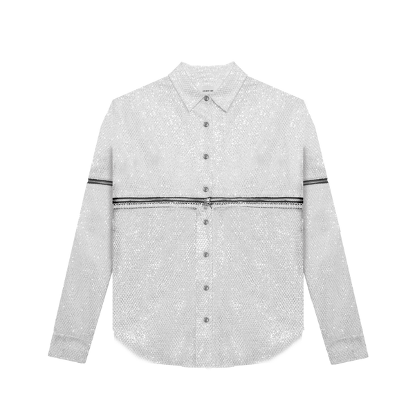 Fishnet Convertible Buttondown
