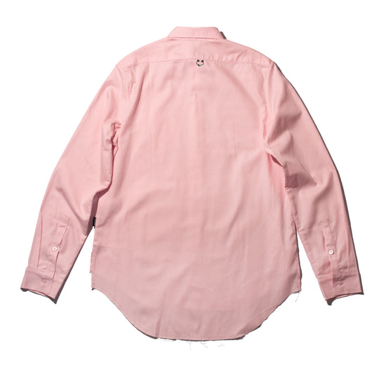 Pink Signature Pierced Buttondown Shirt
