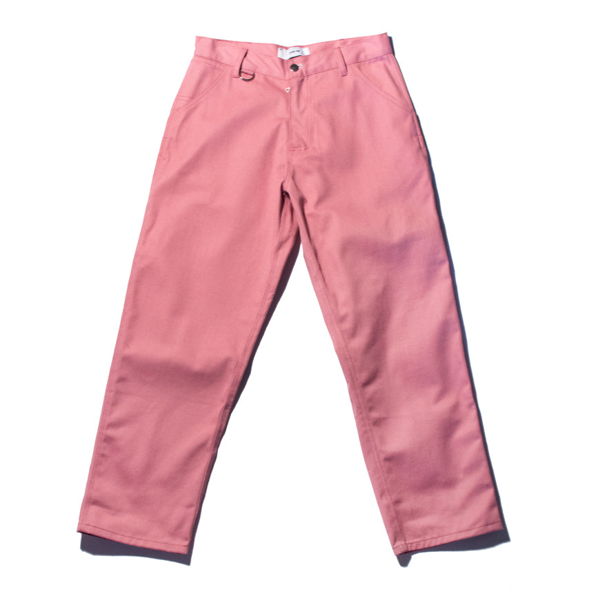Pink Denim Work Trousers