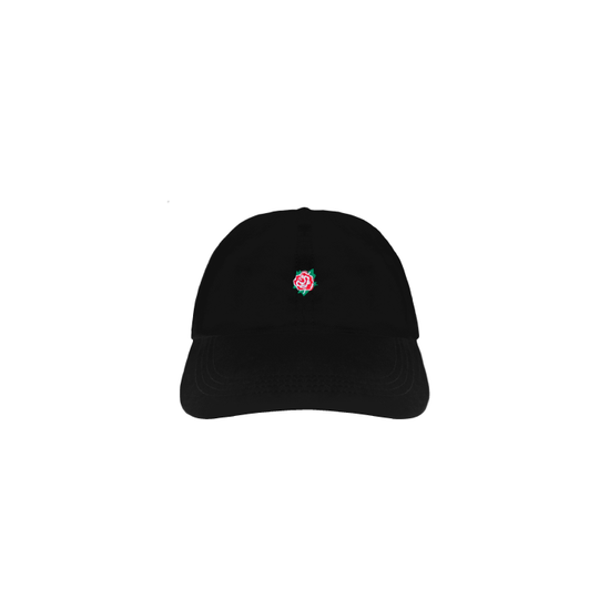 Embroidered Rose Strapback Hat