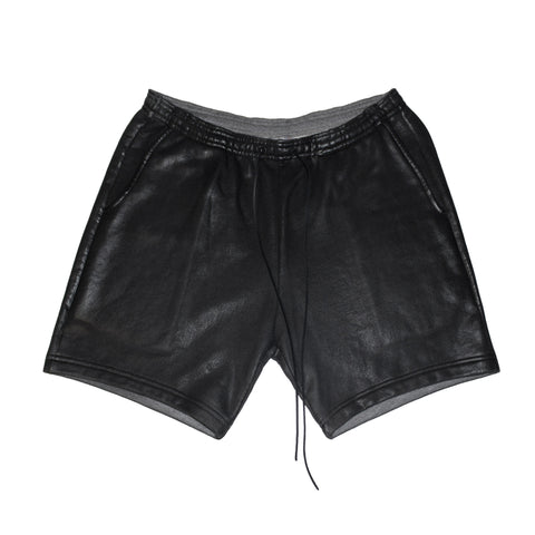 Leather Effect Motocross Shorts