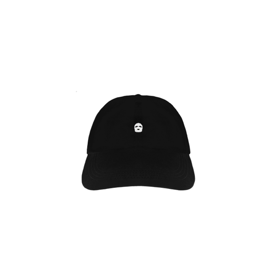 Embroidered Ski Mask Strapback Hat