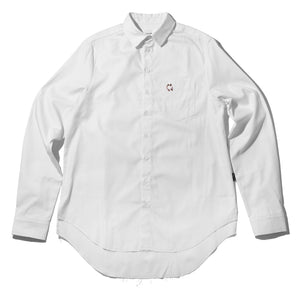 White Signature Pierced Buttondown Shirt