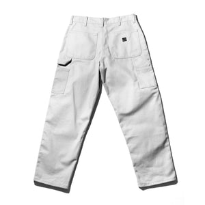White Denim Work Trousers