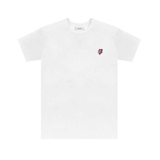 Embroidered Rose Tee