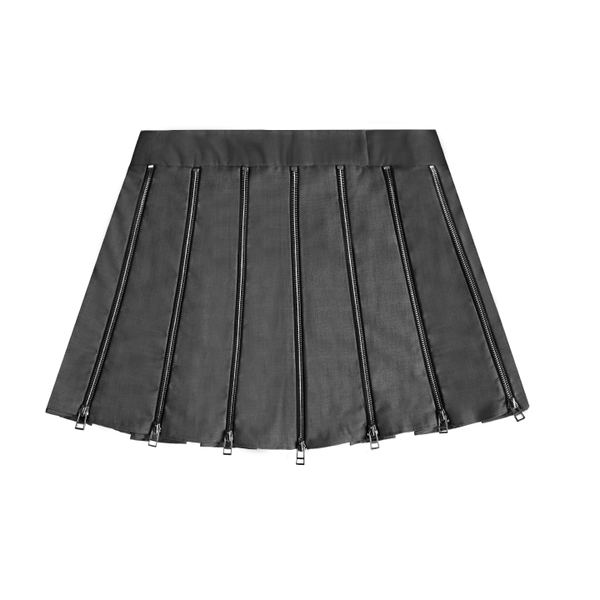 Zipper Pleat Skirt