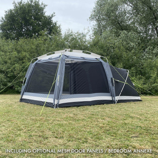 Khyam 2021 ScreenHub Quick Erect 8 Berth Tent 'Harewood' Bundle