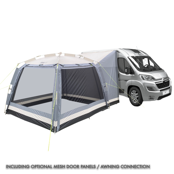 Khyam 2021 ScreenHub Quick Erect Awning Silver Bundle