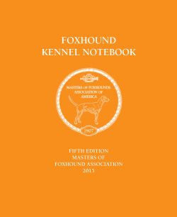 Foxhound Kennel Notebook - 5th Edition
