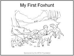 My First Foxhunt (Coloring Book)