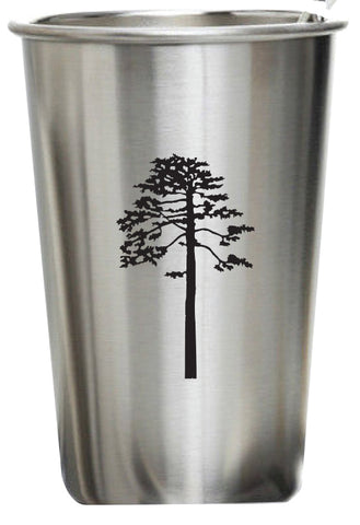 Stainless Steel Drinking Glass (Black Imprint)
