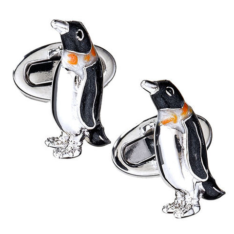 Enameled Penguin Cufflinks