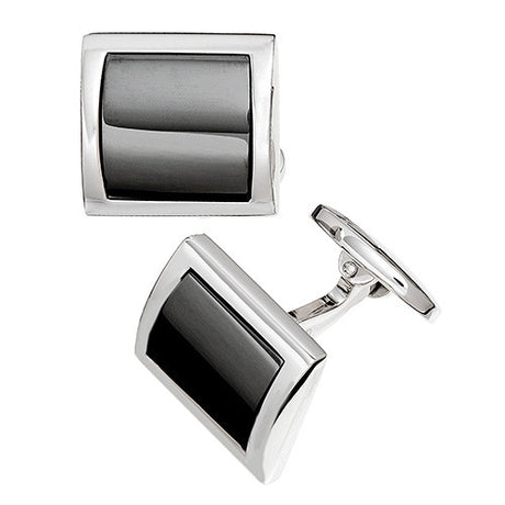 Curved Square Cufflinks - Jan Leslie Cufflinks and Accessories