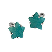 Gemstone Star Sterling Silver Cufflinks - Jan Leslie Cufflinks and Accessories
