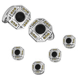 Art Deco Tuxedo Cufflinks and Studs by Jan Leslie