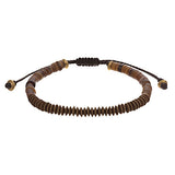 Shell Disc Bead Men's Bracelet