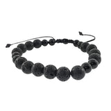 Onyx and Lava Rock  Bracelet - Jan Leslie Cufflinks and Accessories