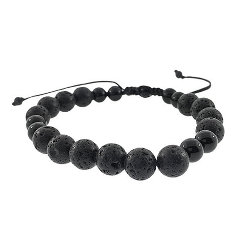 Onyx and Lava Rock  Bracelet