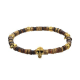 Tribal Men's Skull Bracelet by Jan Leslie - Brown Variation