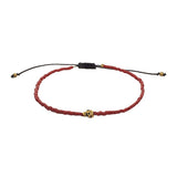 Nepal Beads Men's Skull Bracelet by Jan Leslie in Red