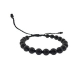 Men's Onyx Bracelet with Pull Cord - Jan Leslie Cufflinks and Accessories