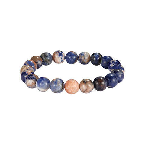 10mm Semiprecious Gemstone Beaded Bracelet