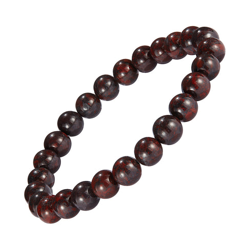 8mm Semiprecious Gemstone Beaded Elastic Bracelet