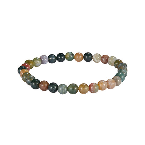 6mm Semiprecious Gemstone Beaded Elastic Bracelet