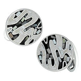 Jan Leslie Black and White Camo Cufflinks