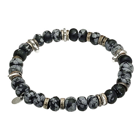 Power Stone Stretch Disc Bead Bracelet
